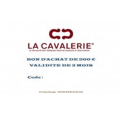 CHEQUE CADEAU 200 €