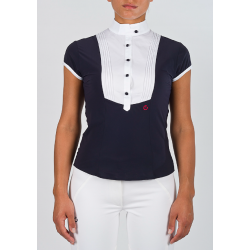 CAVALLERIA TOSCANA SHORT SLEEVES BLOUSE WITH FRILL