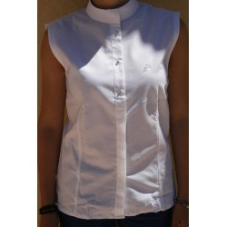 CAPRI WHITE COMPETITION SHIRT WITHOUT SLEEVES FOR WOMAN