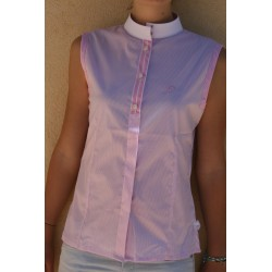 CAPRI PINK STRIPED COMPETITION SHIRT WITHOUT SLEEVES FOR WOMAN