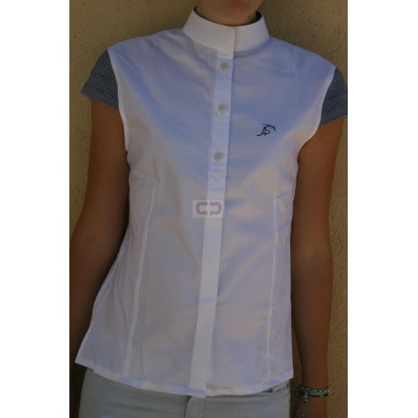 CHEMISE FAUSSES MANCHES SORRENTO BLANCHE ANNA SCARPATI