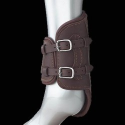 LEATHER FETLOCK BOOTS WITH BUCKLES FROM PRESTIGE