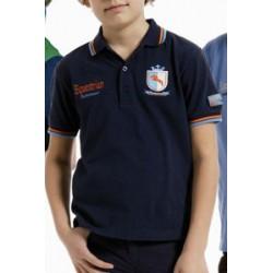 TATTINI PIPING POLO SHIRT FOR BOYS