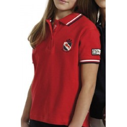TATTINI PIPING POLO SHIRT FOR GIRLS