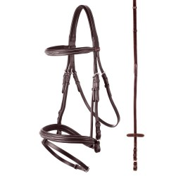 PREMIERE NANCY COMBINED SNAFFLE BRIDLE FROM BR