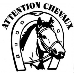 ADHESIF ATTENTION CHEVAUX FISEDA