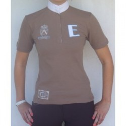 COFFEE COLORED COMPETITION POLO SHIRT FROM SUNRISE ESPERADO